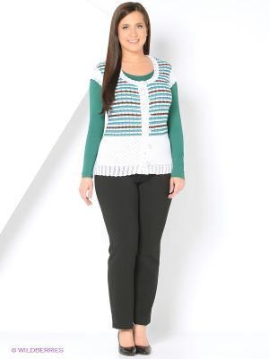 Жилет Milana Style. Цвет: зеленый, белый