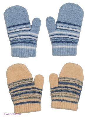 Варежки FOMAS. Цвет: голубой, кремовый, белый, синий