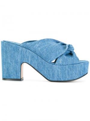 Джинсовые сандалии Esther Robert Clergerie. Цвет: синий