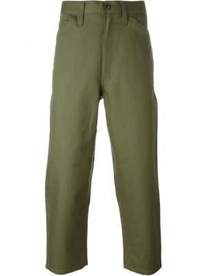 Укороченные брюки Junya Watanabe Comme Des Garçons Man. Цвет: зелёный