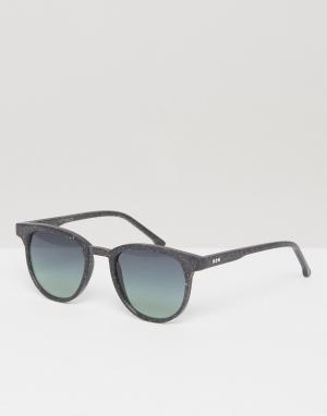 Komono Солнцезащитные очки в квадратной оправе Francis Neutro. Цвет: черный