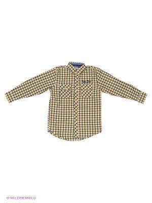 Рубашка SELA. Цвет: желтый