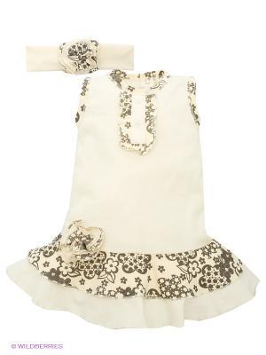 Платье Lucky Child. Цвет: молочный