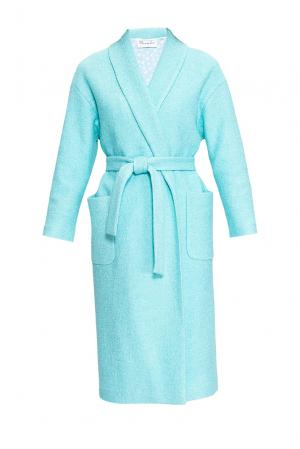 Пальто с поясом 163469 Private Sun. Цвет: синий