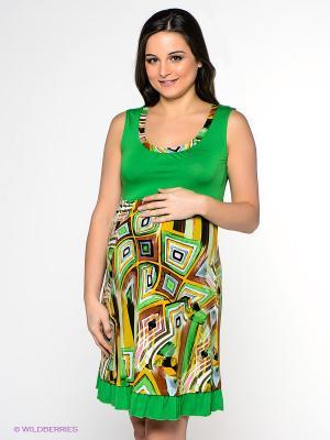 Сарафан для беременных ФЭСТ. Цвет: зеленый, горчичный