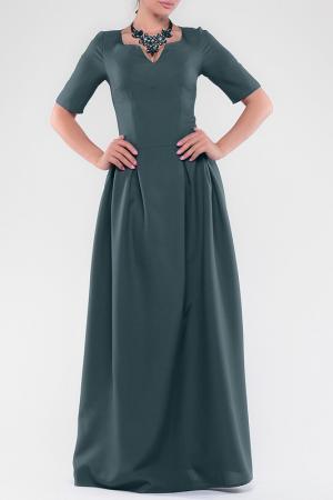 Платье Dioni. Цвет: темно-изумрудный