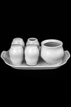 Набор для специй 6 предметов BERNADOTTE. Цвет: белый