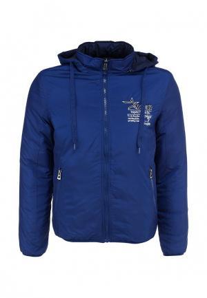 Куртка утепленная S&J. Цвет: синий