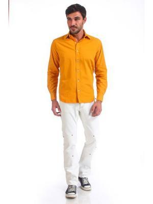 Рубашка VON DUTCH. Цвет: желтый