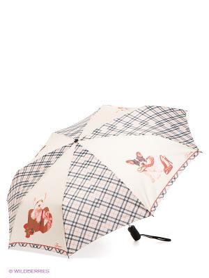 Зонт Eleganzza. Цвет: молочный, красный, коричневый
