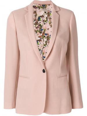 Классический пиджак Piccione.Piccione. Цвет: розовый и фиолетовый