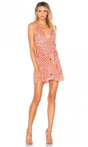 Платье Poupette St Barth. Цвет: оранжевый