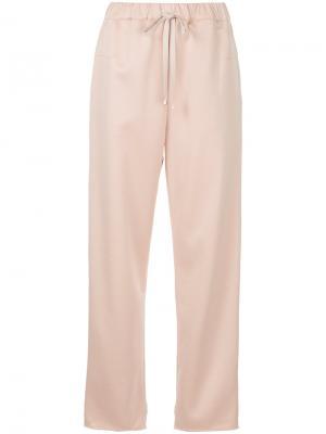 Укороченные брюки со шнурком Astraet. Цвет: розовый и фиолетовый