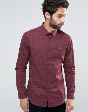 Farah Приталенная рубашка Manderson. Цвет: красный