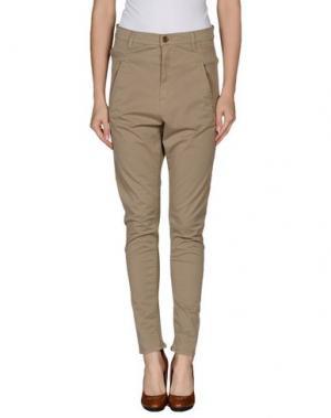 Повседневные брюки SUPERFINE. Цвет: хаки