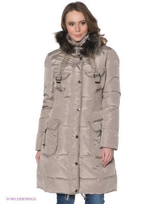 Пальто Discovering. Цвет: серо-коричневый