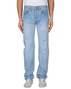 Джинсовые брюки AVIATIC. Цвет: синий