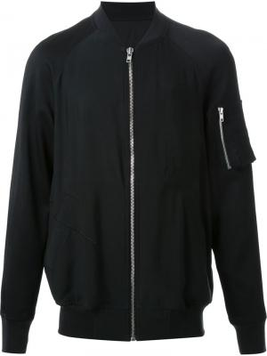Куртка-бомбер с вышивкой Rick Owens. Цвет: чёрный