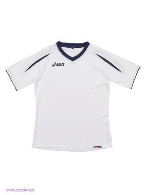 Футболка T-SHIRT STADIUM JR MC ASICS. Цвет: белый