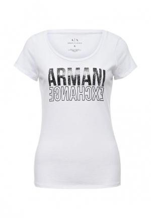 Футболка Armani Exchange. Цвет: белый