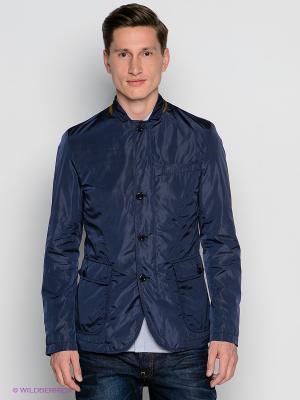 Куртка GANT. Цвет: темно-синий, коричневый
