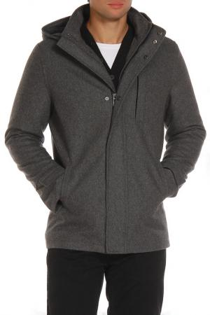 Пальто DISSIDENT. Цвет: серый