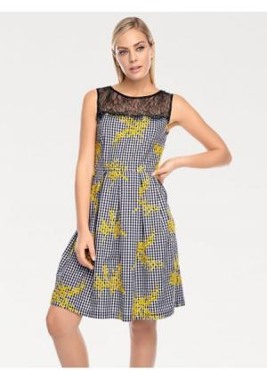 Платье RICK CARDONA by Heine. Цвет: черный/желтый