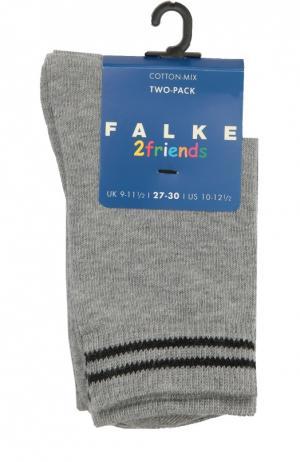 Комплект из двух пар носков Falke. Цвет: серый