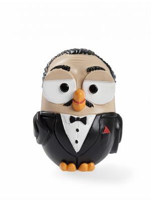 Керамическая статуэтка сова Крестный отец Goofi. Цвет: черный