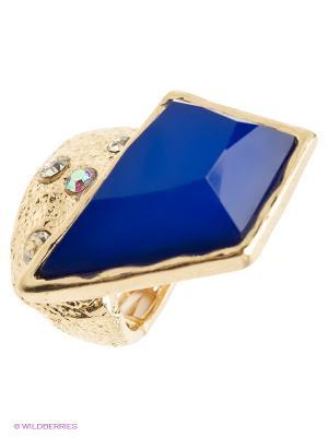 Кольцо AVGAD. Цвет: золотистый, синий