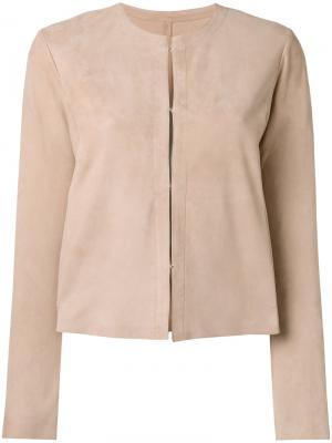 Куртка без воротника Drome. Цвет: телесный