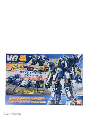 Набор Voov-G (робот-истребитель, 5 автомобилей) Bandai. Цвет: синий