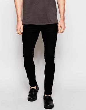 Dark Future Черные джинсы скинни. Цвет: черный
