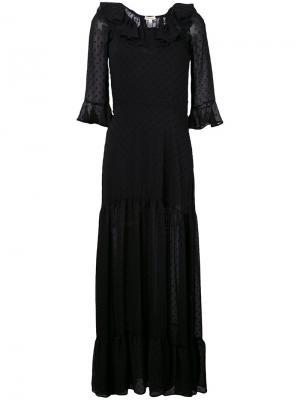 Длинное платье Tarta For Love And Lemons. Цвет: чёрный