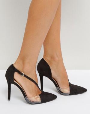 QUPID Асимметричные туфли на высоком каблуке. Цвет: черный