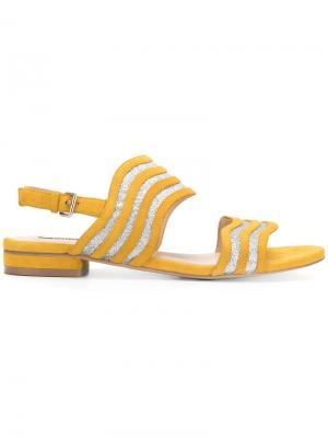 Wave stripe sandals Steffen Schraut. Цвет: жёлтый и оранжевый