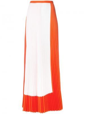 Pleated maxi skirt Haider Ackermann. Цвет: жёлтый и оранжевый