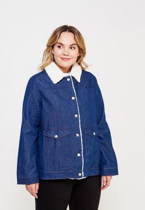 Куртка джинсовая LOST INK PLUS. Цвет: синий