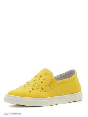 Слипоны KEDDO. Цвет: желтый