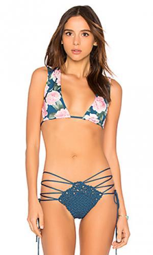 Топ jessie Frankies Bikinis. Цвет: сине-зеленый