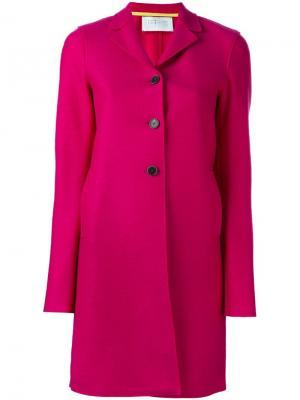 Пальто на трех пуговицах Harris Wharf London. Цвет: розовый и фиолетовый