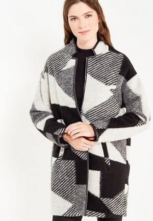 Пальто H:Connect. Цвет: черно-белый