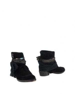 Полусапоги и высокие ботинки ALBERTO MORETTI. Цвет: черный