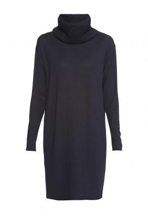 Платье из шерсти с воротником K152970R Baroni. Цвет: синий