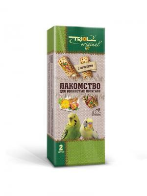 Лакомство Original для волнистых попугаев с фруктами (уп.2шт.). TRIOL. Цвет: желтый, зеленый