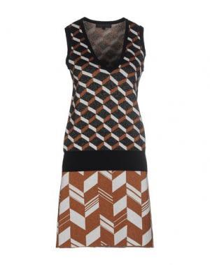 Короткое платье AMERICAN RETRO. Цвет: коричневый