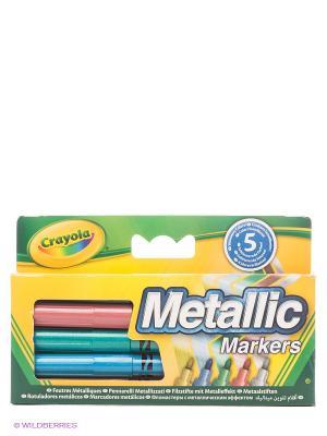 Фломастеры цвета металлик Crayola. Цвет: желтый