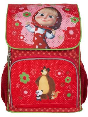 Рюкзак эргономичный Маша и Медведь классика. Цвет: красный, розовый