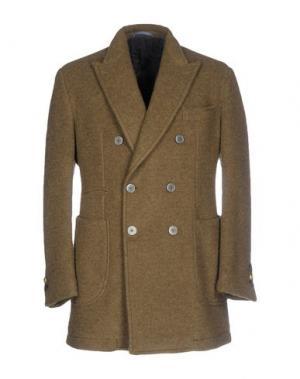 Пальто JOHN SHEEP. Цвет: зеленый-милитари