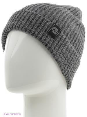 Шапка BUFF KNITTED HATS BASIC STEEL. Цвет: темно-серый